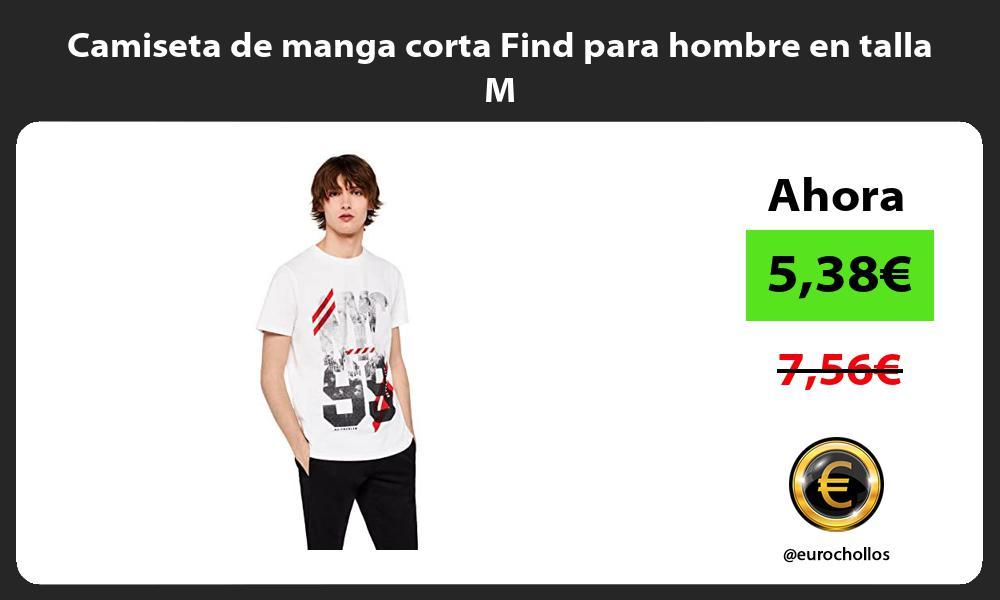 Camiseta de manga corta Find para hombre en talla M