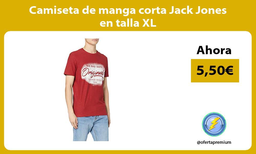 Camiseta de manga corta Jack Jones en talla XL