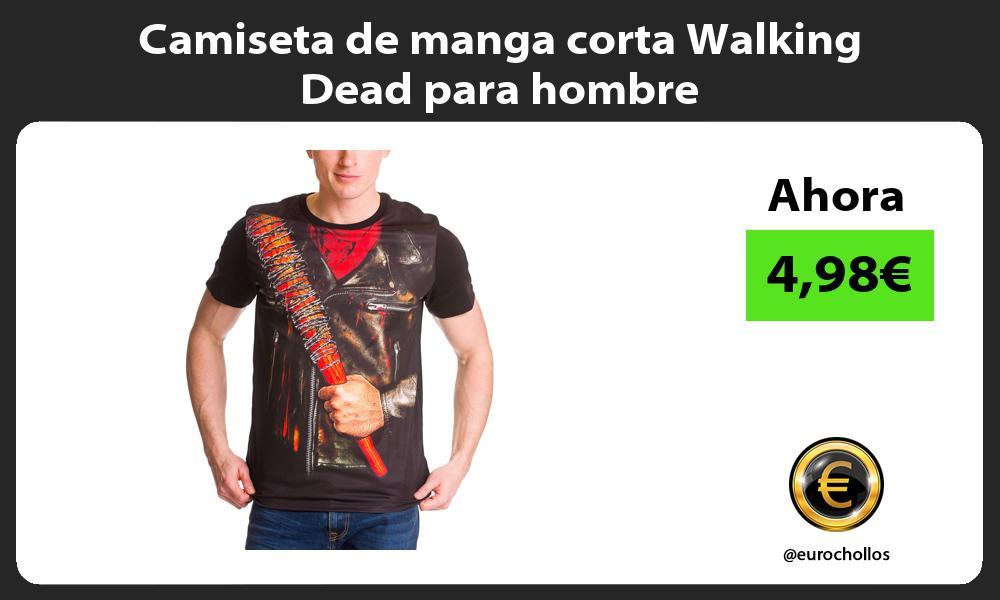 Camiseta de manga corta Walking Dead para hombre