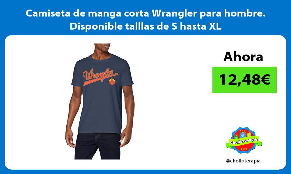 Camiseta de manga corta Wrangler para hombre Disponible talllas de S hasta XL