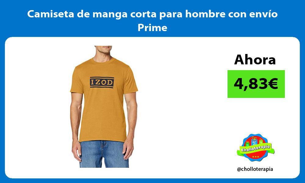 Camiseta de manga corta para hombre con envío Prime