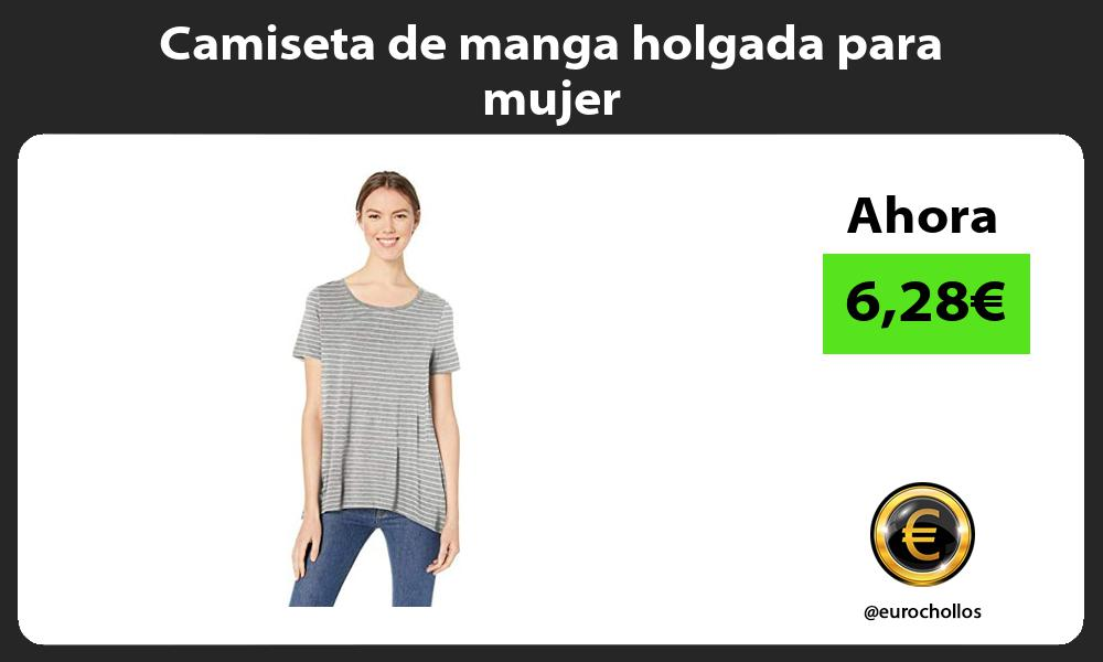 Camiseta de manga holgada para mujer