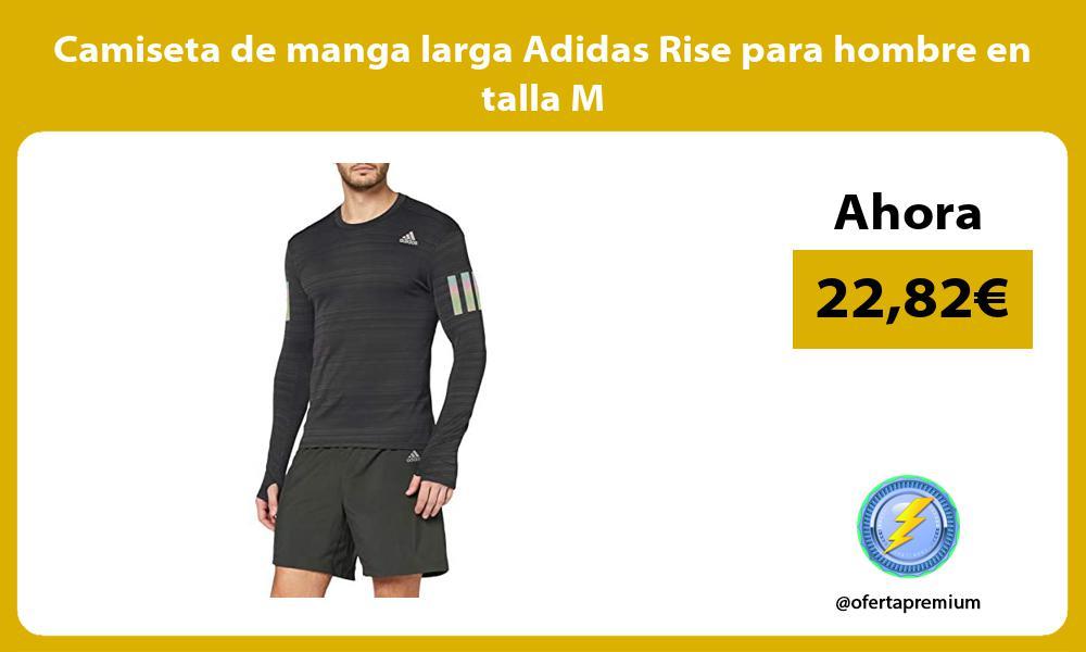Camiseta de manga larga Adidas Rise para hombre en talla M