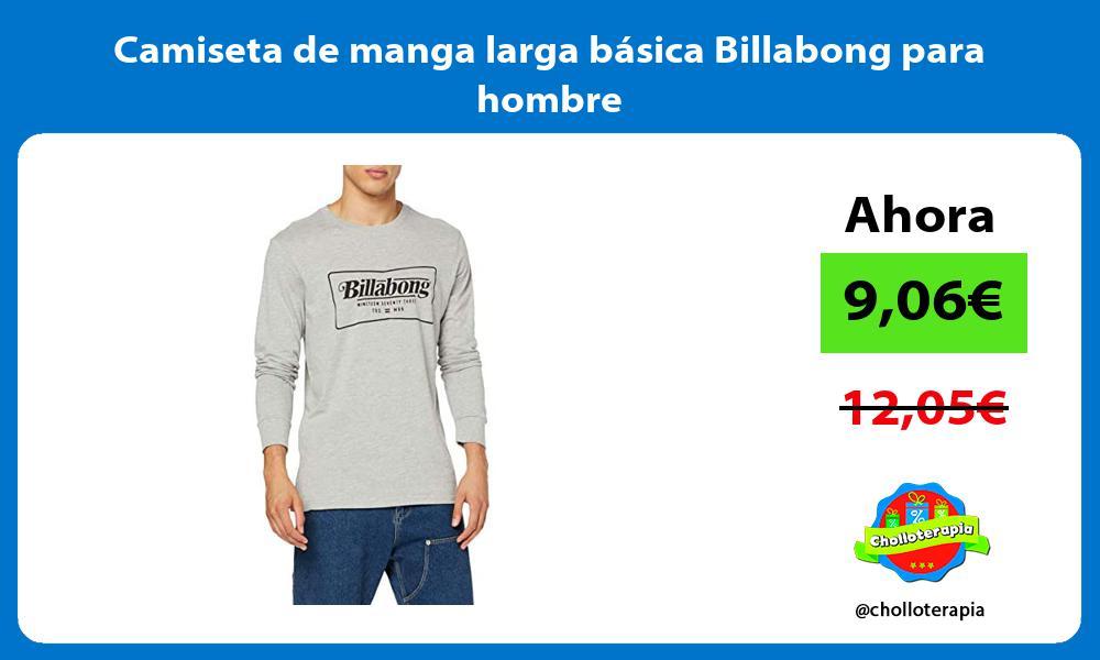 Camiseta de manga larga básica Billabong para hombre