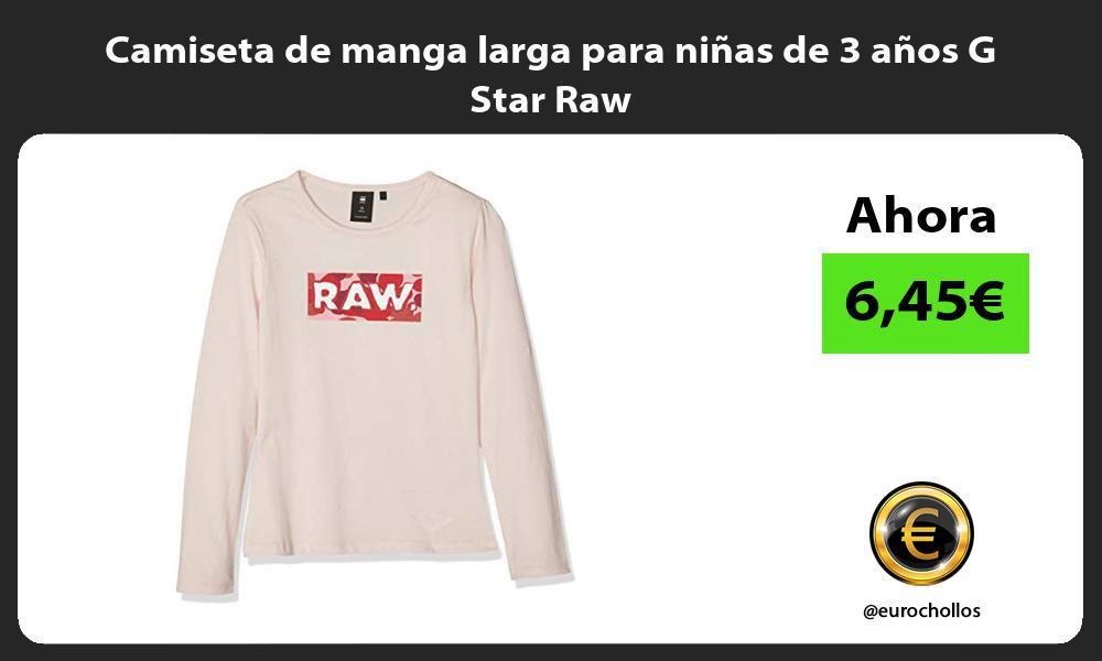 Camiseta de manga larga para niñas de 3 años G Star Raw