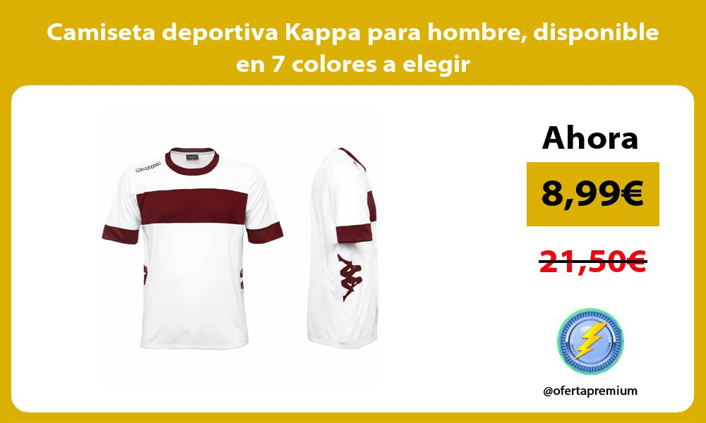 Camiseta deportiva Kappa para hombre disponible en 7 colores a elegir