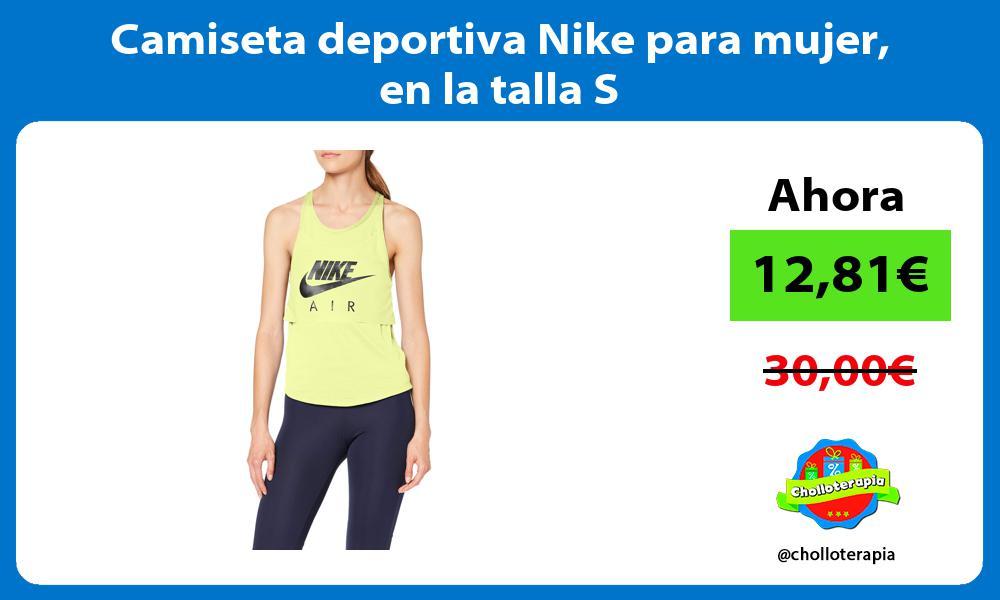 Camiseta deportiva Nike para mujer en la talla S