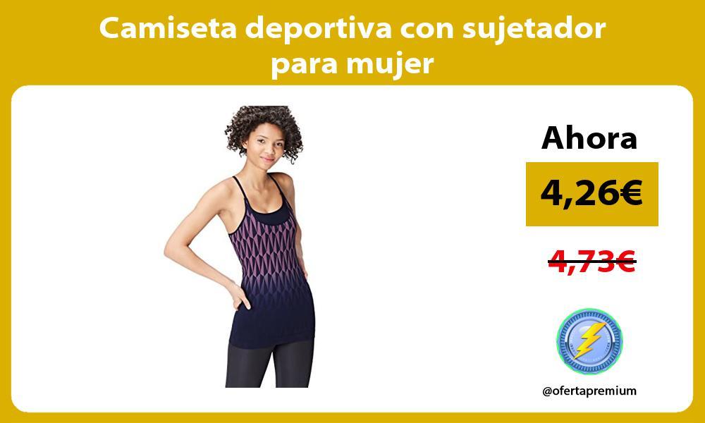 Camiseta deportiva con sujetador para mujer