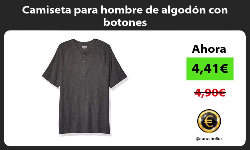 Camiseta para hombre de algodón con botones
