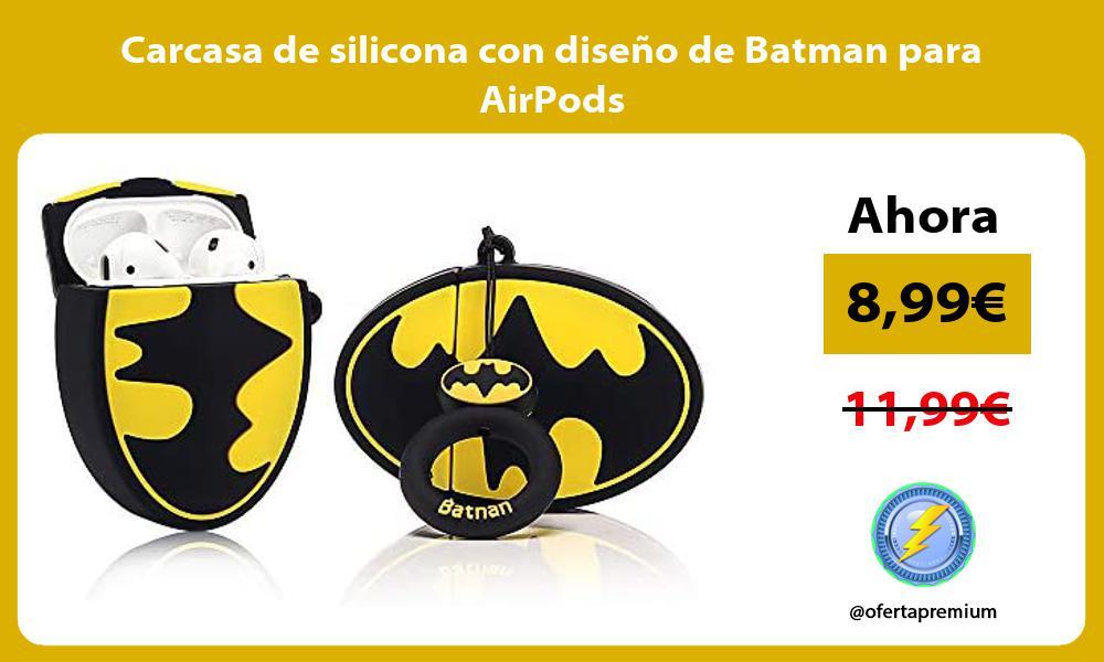 Carcasa de silicona con diseño de Batman para AirPods