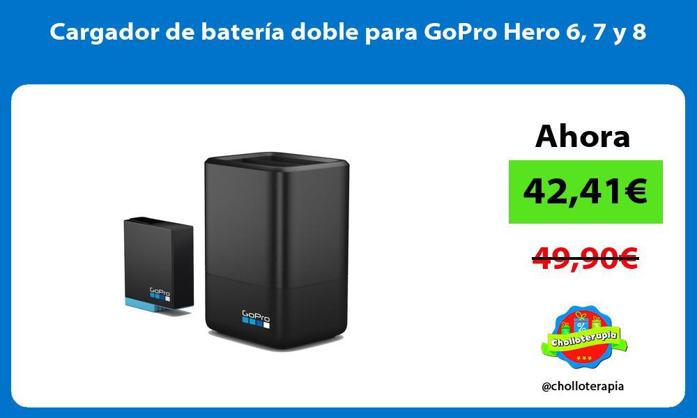 Cargador de batería doble para GoPro Hero 6 7 y 8