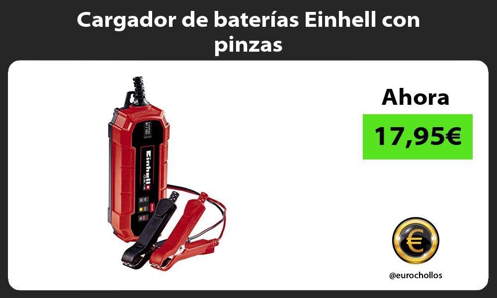 Cargador de baterías Einhell con pinzas