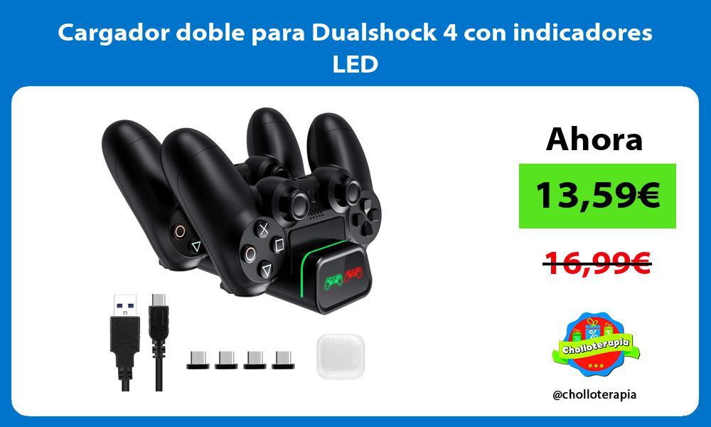 Cargador doble para Dualshock 4 con indicadores LED