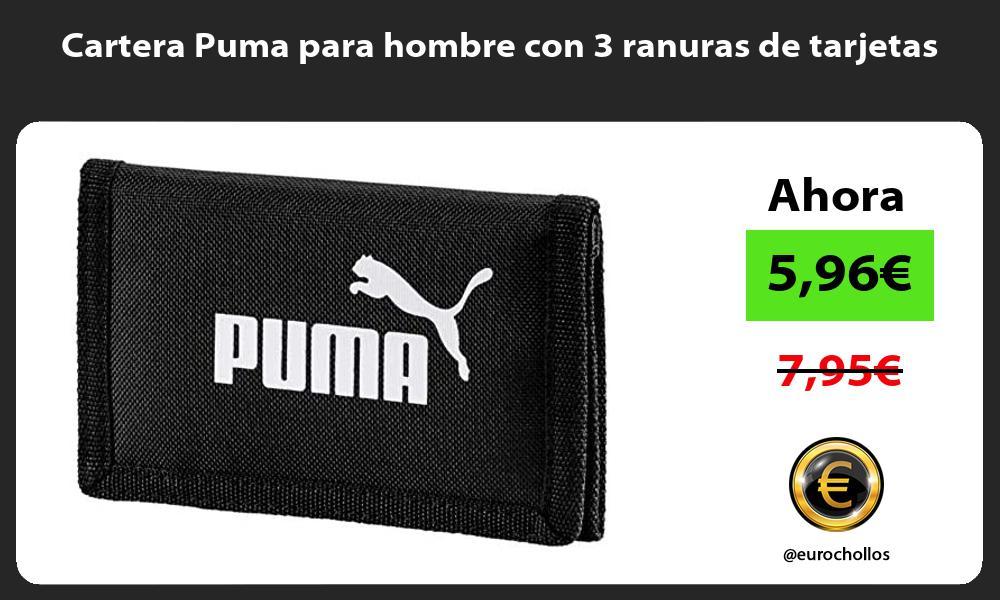 Cartera Puma para hombre con 3 ranuras de tarjetas