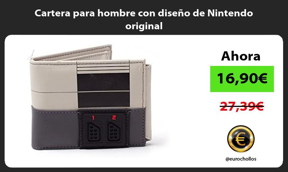 Cartera para hombre con diseño de Nintendo original