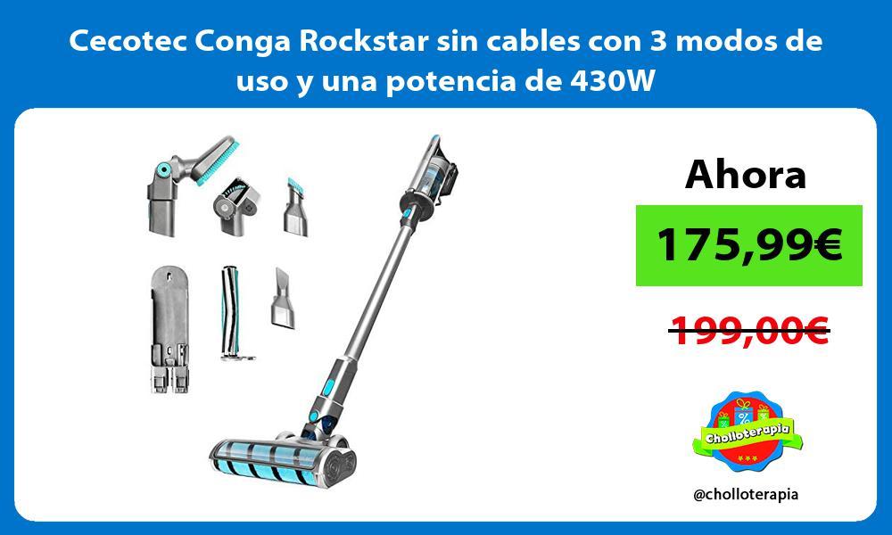 Cecotec Conga Rockstar sin cables con 3 modos de uso y una potencia de 430W