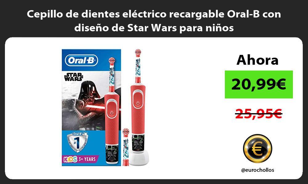 Cepillo de dientes eléctrico recargable Oral B con diseño de Star Wars para niños