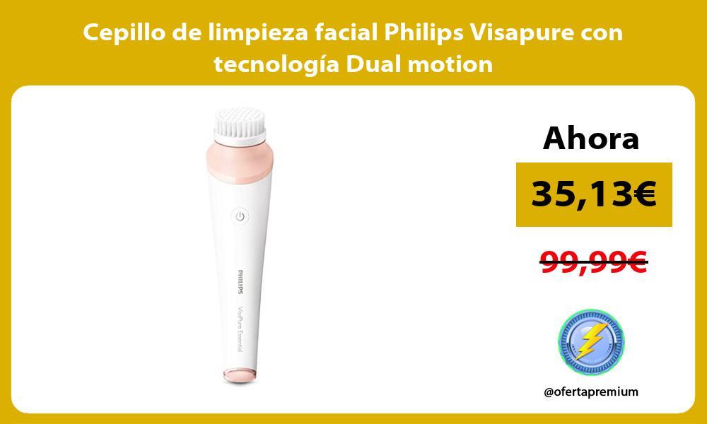 Cepillo de limpieza facial Philips Visapure con tecnología Dual motion