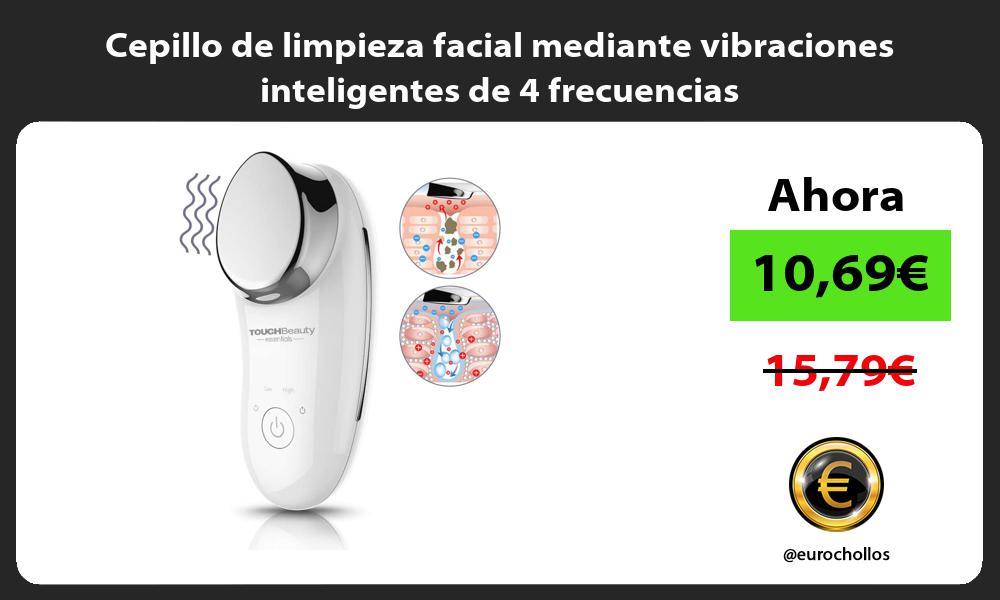 Cepillo de limpieza facial mediante vibraciones inteligentes de 4 frecuencias