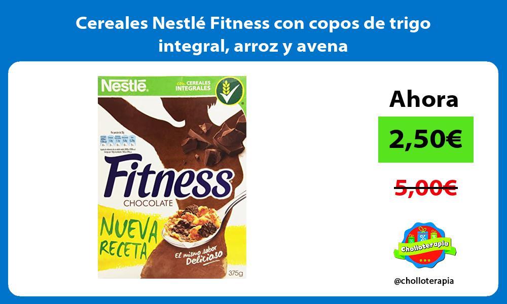 Cereales Nestlé Fitness con copos de trigo integral arroz y avena