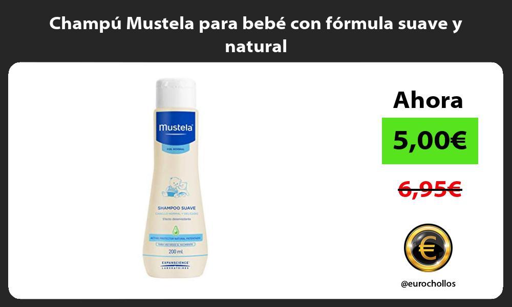 Champú Mustela para bebé con fórmula suave y natural