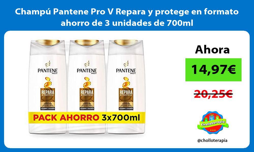 Champú Pantene Pro V Repara y protege en formato ahorro de 3 unidades de 700ml