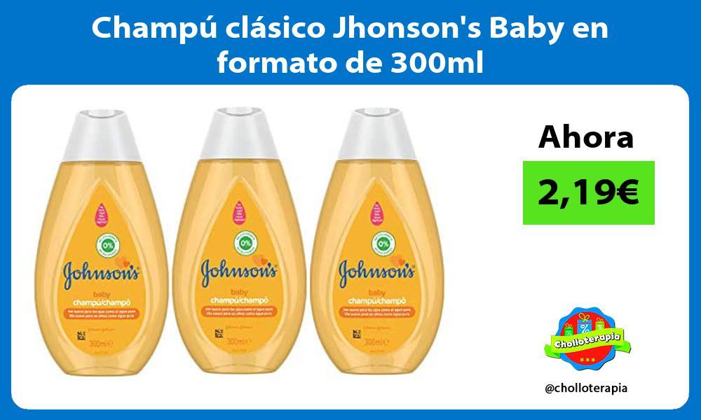 Champú clásico Jhonsons Baby en formato de 300ml