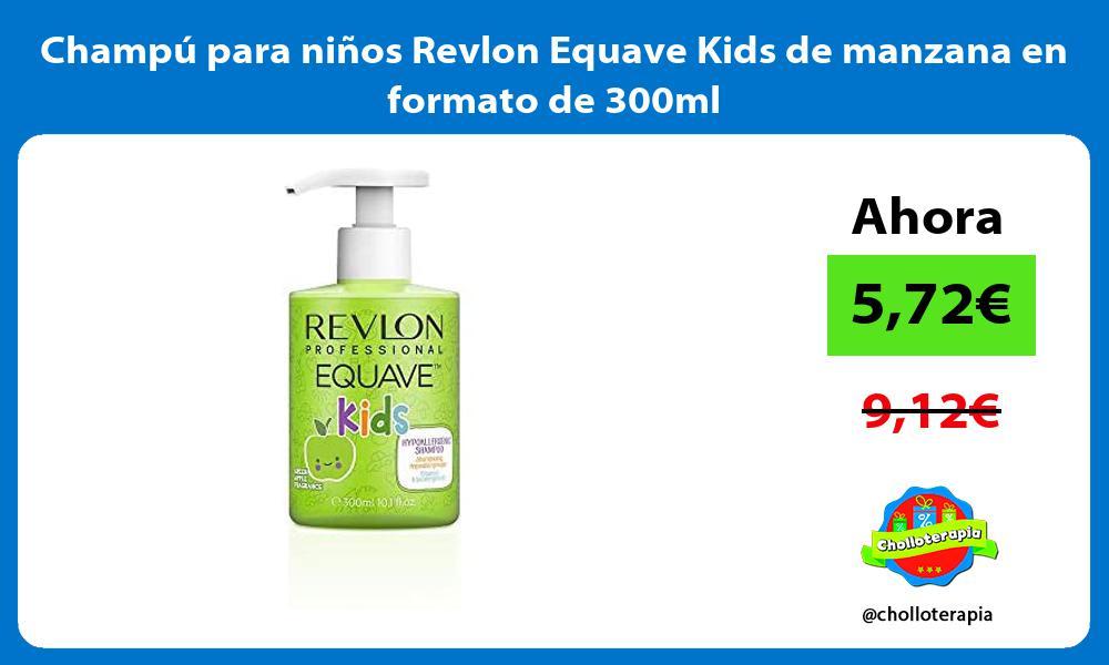 Champú para niños Revlon Equave Kids de manzana en formato de 300ml