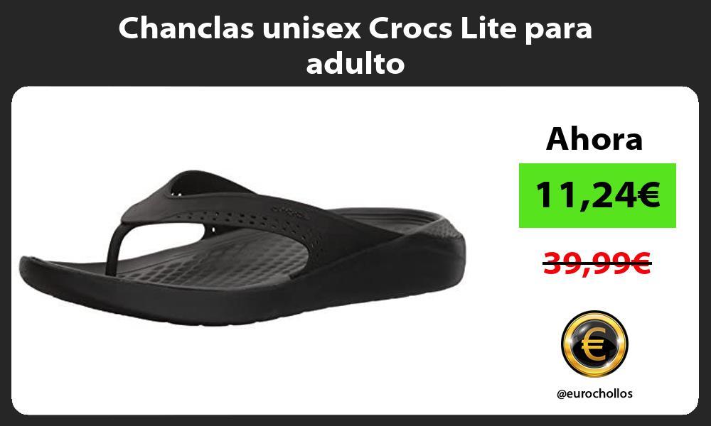 Chanclas unisex Crocs Lite para adulto