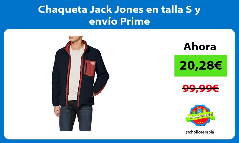 Chaqueta Jack Jones en talla S y envío Prime