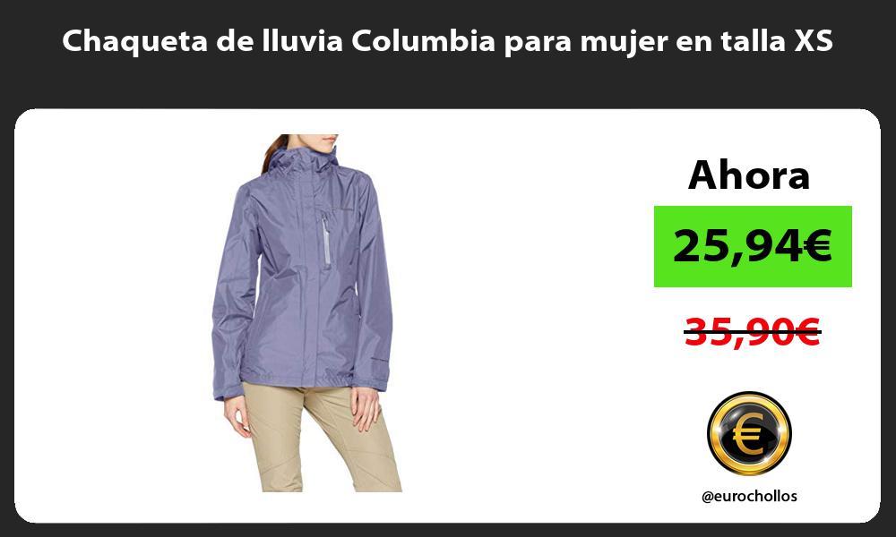 Chaqueta de lluvia Columbia para mujer en talla XS