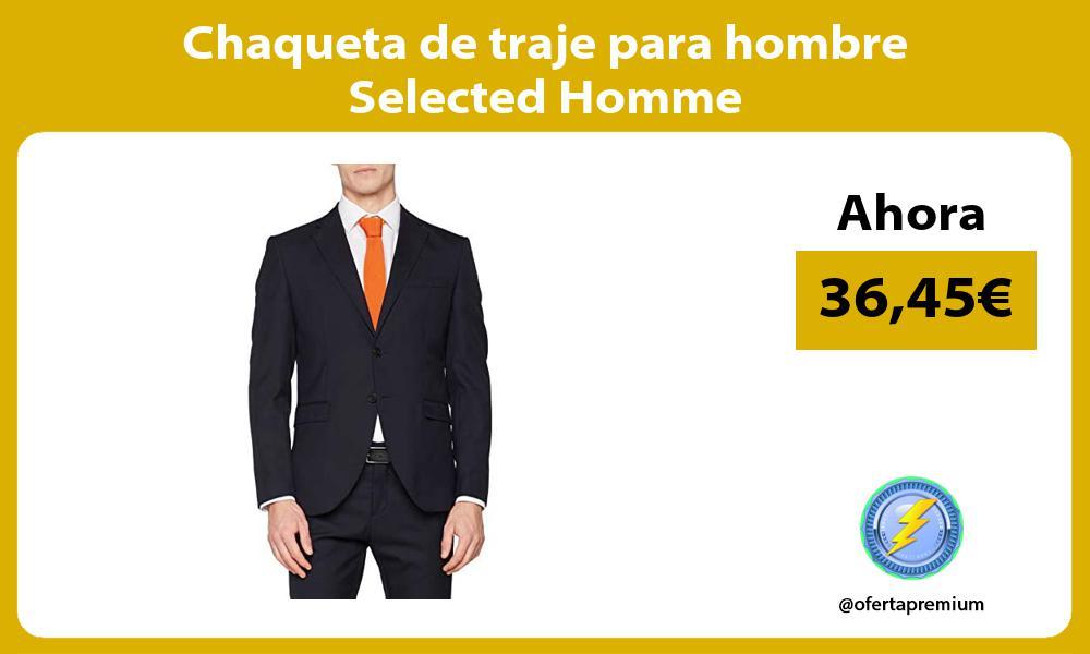 Chaqueta de traje para hombre Selected Homme
