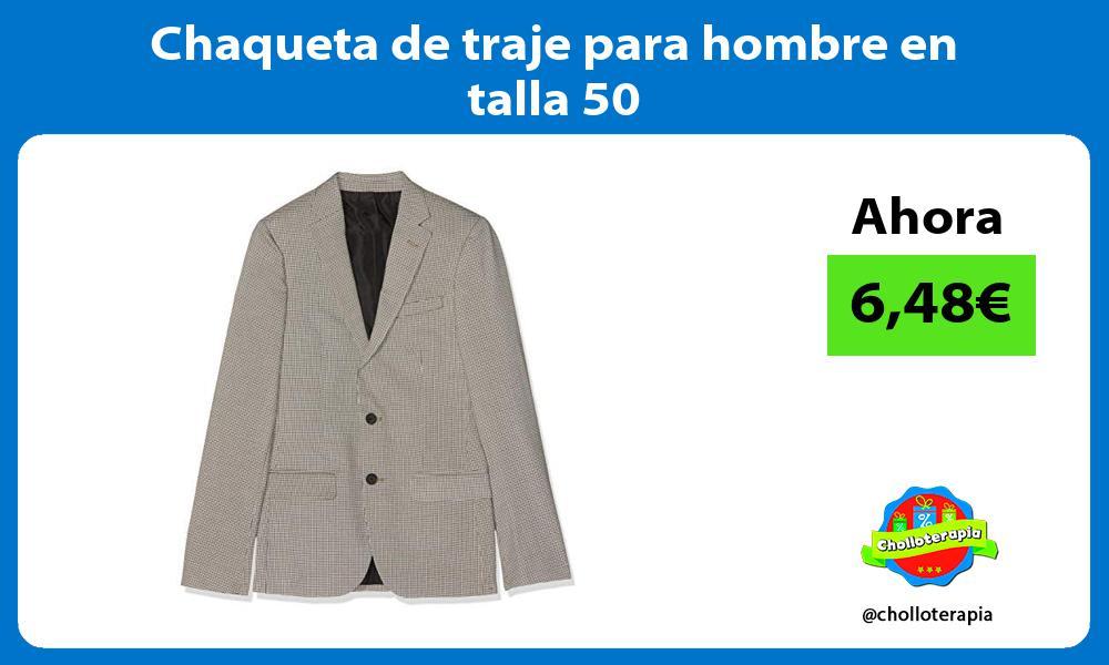 Chaqueta de traje para hombre en talla 50