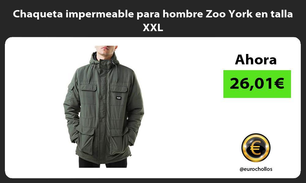 Chaqueta impermeable para hombre Zoo York en talla XXL
