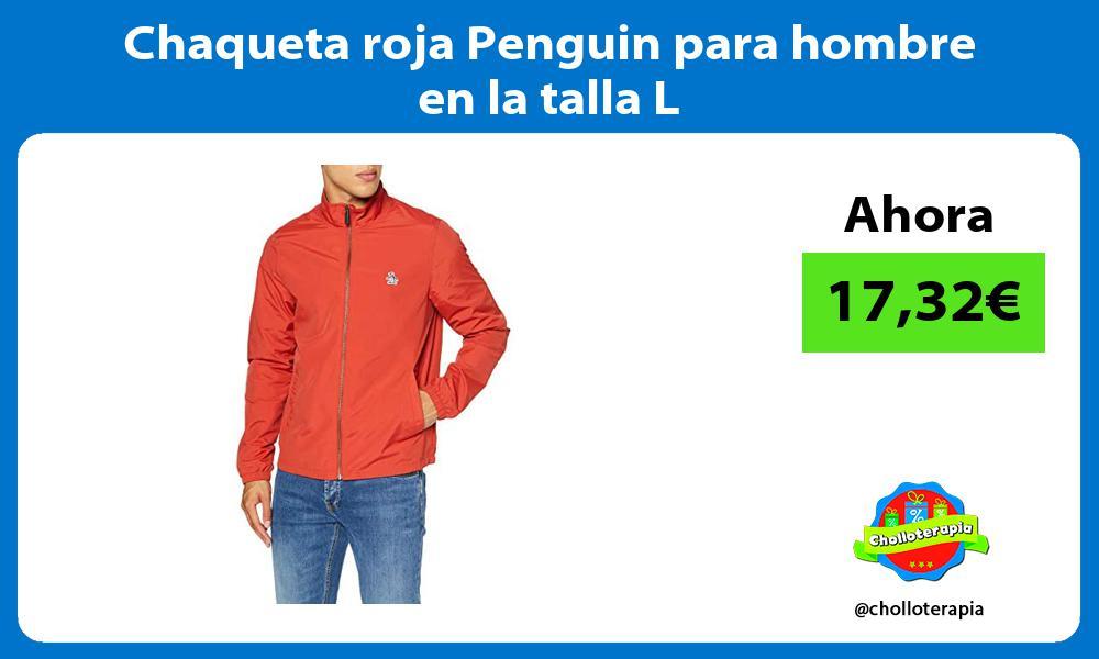 Chaqueta roja Penguin para hombre en la talla L