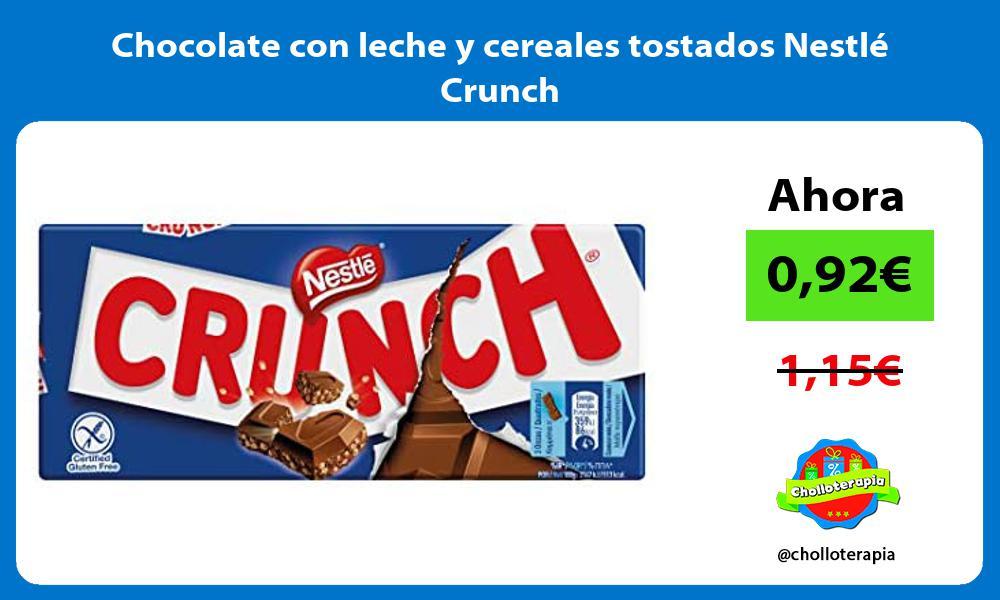 Chocolate con leche y cereales tostados Nestlé Crunch