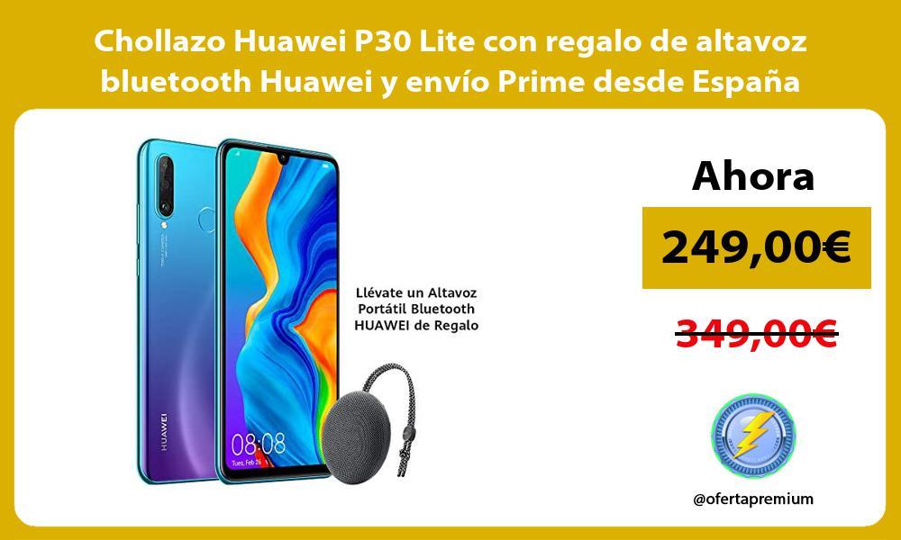 Chollazo Huawei P30 Lite con regalo de altavoz bluetooth Huawei y envío Prime desde España