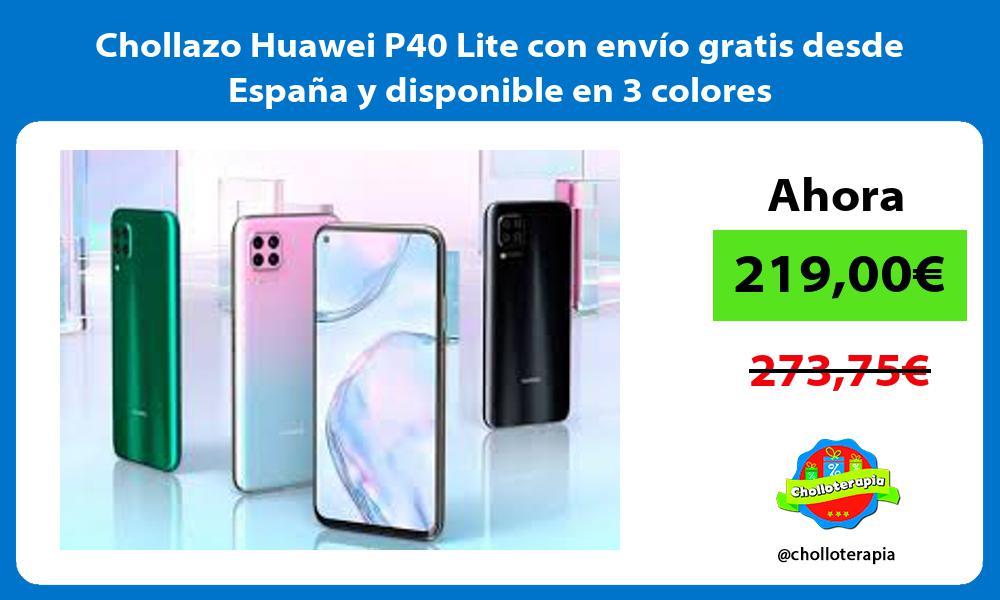 Chollazo Huawei P40 Lite con envío gratis desde España y disponible en 3 colores