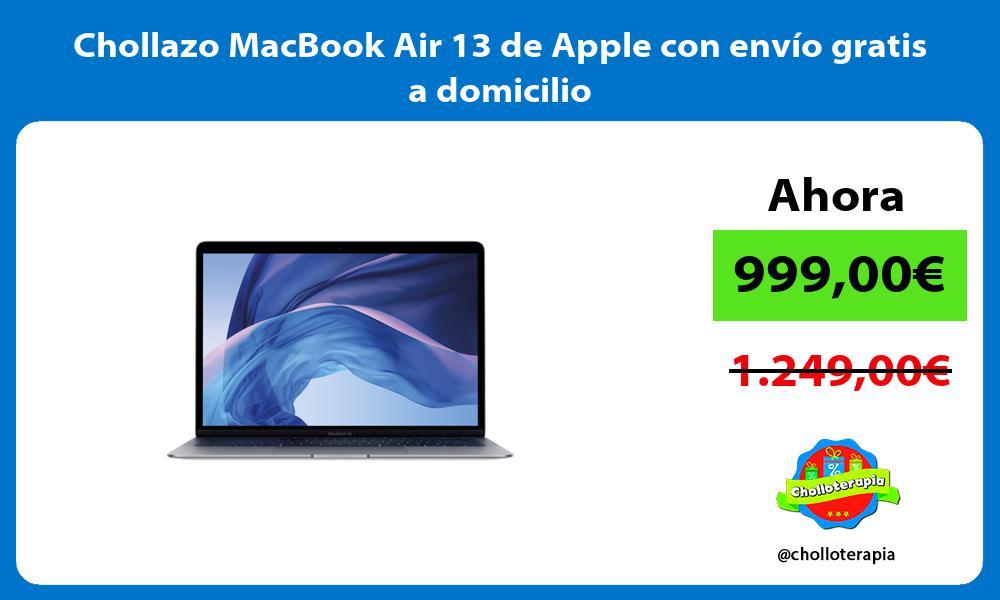 Chollazo MacBook Air 13 de Apple con envío gratis a domicilio
