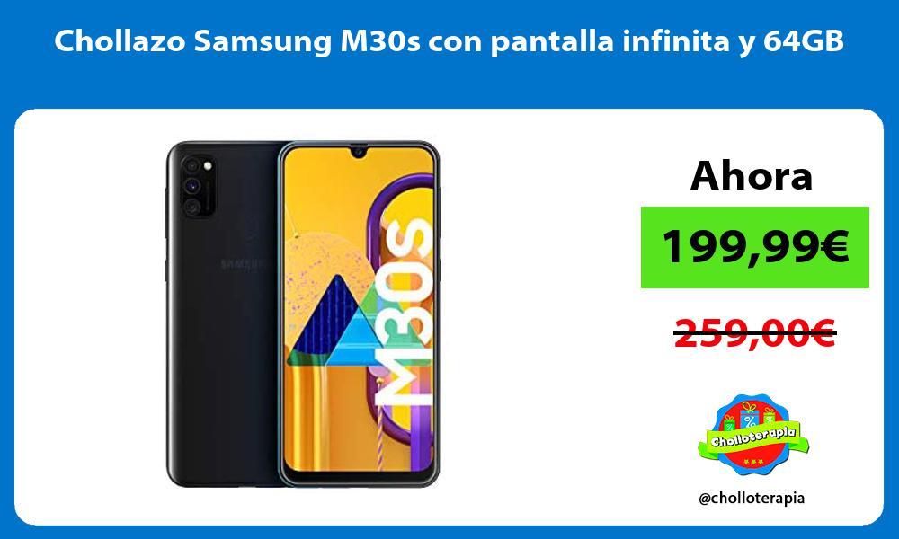 Chollazo Samsung M30s con pantalla infinita y 64GB