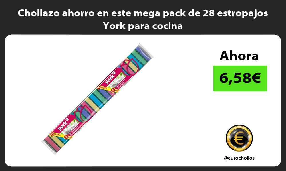 Chollazo ahorro en este mega pack de 28 estropajos York para cocina
