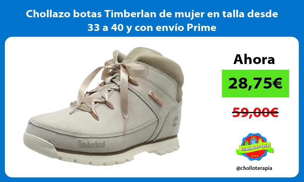 Chollazo botas Timberlan de mujer en talla desde 33 a 40 y con envío Prime
