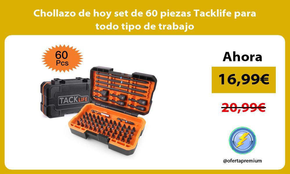 Chollazo de hoy set de 60 piezas Tacklife para todo tipo de trabajo
