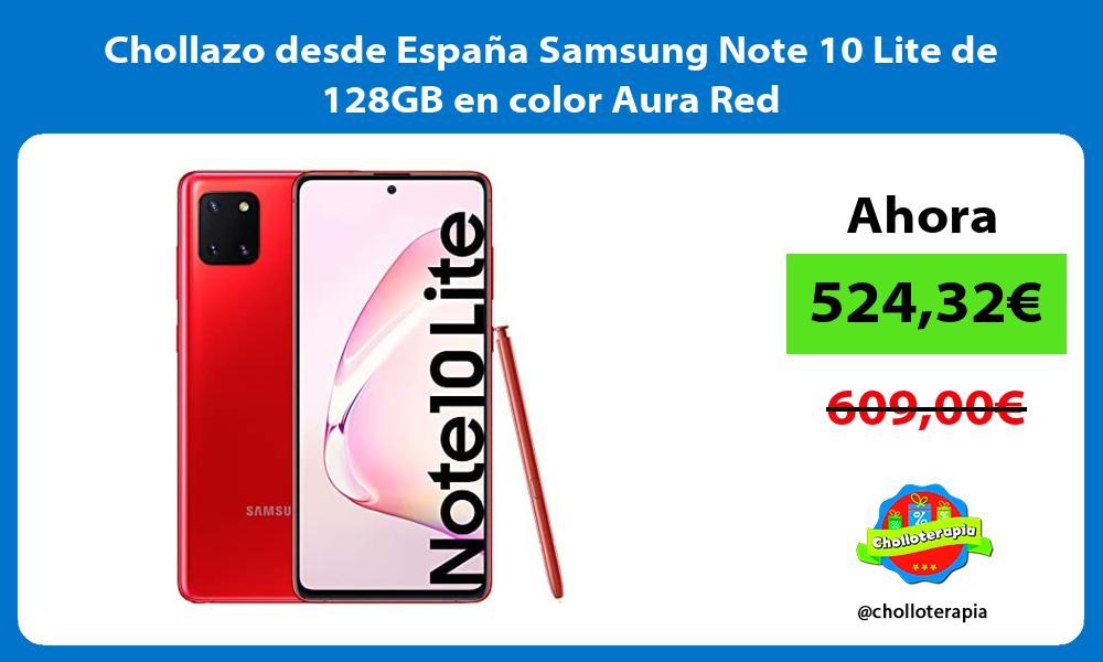 Chollazo desde España Samsung Note 10 Lite de 128GB en color Aura Red