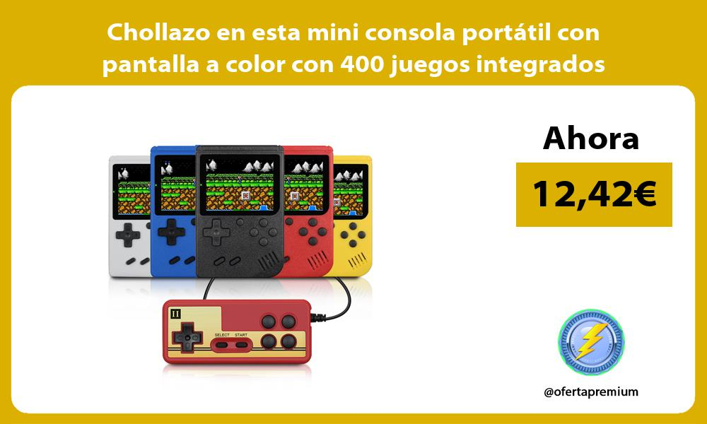 Chollazo en esta mini consola portátil con pantalla a color con 400 juegos integrados
