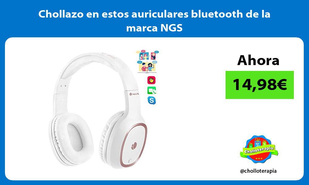 Chollazo en estos auriculares bluetooth de la marca NGS