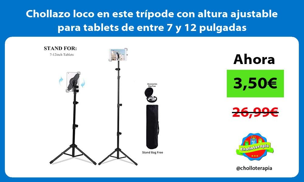 Chollazo loco en este trípode con altura ajustable para tablets de entre 7 y 12 pulgadas