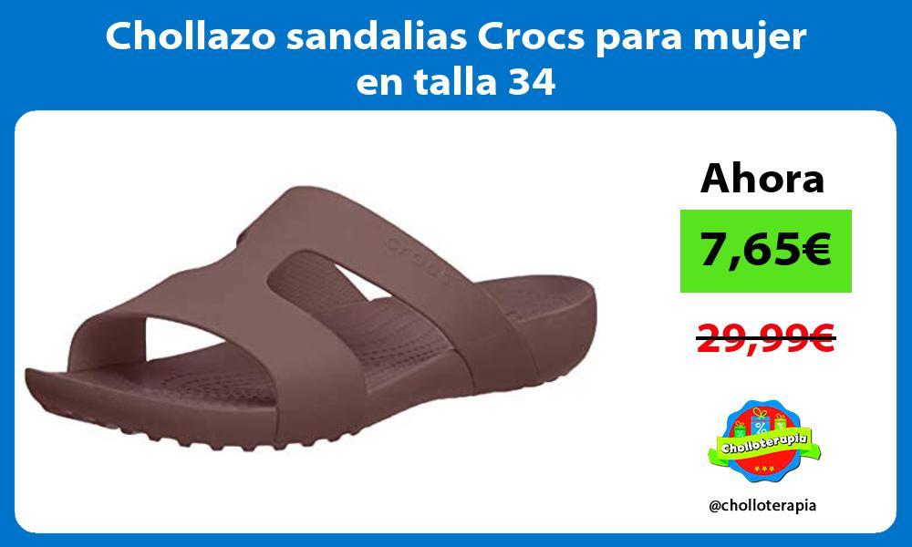 Chollazo sandalias Crocs para mujer en talla 34