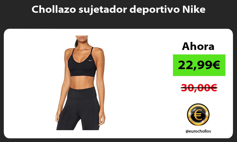 Chollazo sujetador deportivo Nike