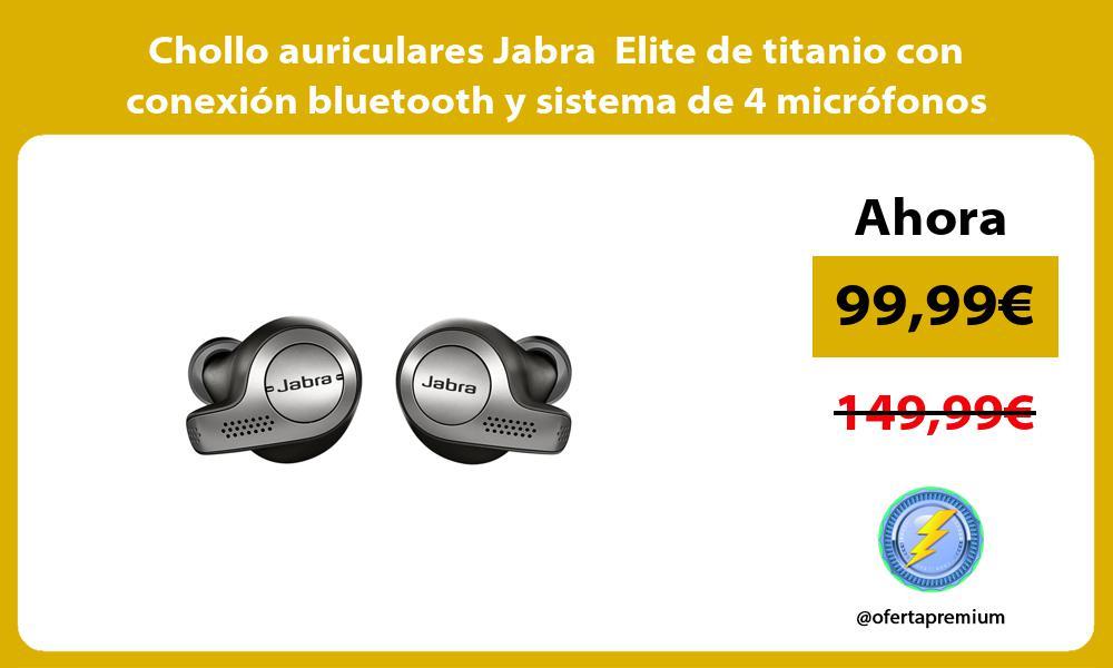 Chollo auriculares Jabra Elite de titanio con conexión bluetooth y sistema de 4 micrófonos